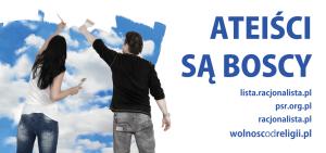 """Billboard kampanii """"Ateiści są boscy"""", projekt: http://www.mucha.bz fot. P. Wojtas"""