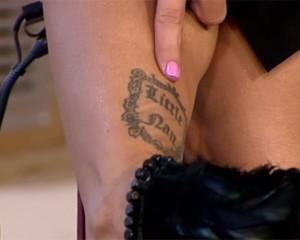 Tatuaż Jodie Marsh upamiętniający jej nianię