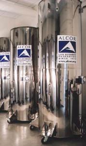 Kapsuły z ciekłym azotem w firmie Alcor