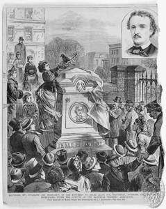 Przeniesienie szczątek Poego do rodzinnego grobowca w 1875 roku