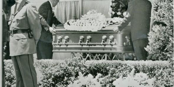Ceremonia pogrzebowa MM w dniu 8 sierpnia 1962 roku