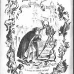 Ilustracja z książki Baka odrodzony (Wilno 1855), prześmiewającej ks. Bakę