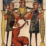 Średniowieczny zabieg usuwania kamieni nerkowych. Mroczne wieki.
