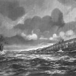 Tonący zeppelin i brytyjski kuter na ilustracji z 10 lutego 1916 roku. Kto tu właściwie był ofiarą?